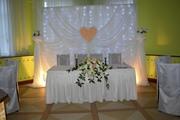 Современное украшение зала на свадьбу